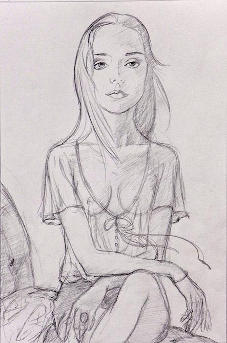 Girl Sitting #2