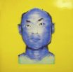 Blue Face on Glossy Yellow Ground