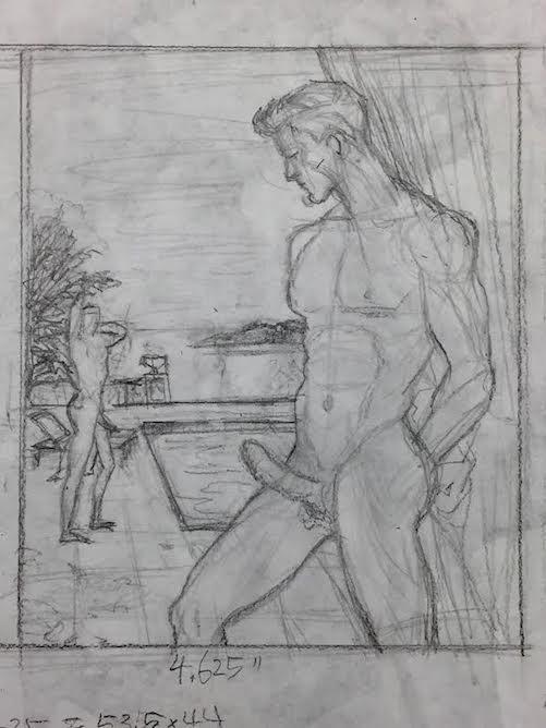 MN-V,  Conceptual Sketch in Pencil