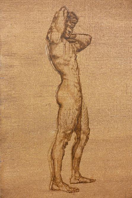 MN-V, Figure #1 in Oil Sketch.